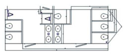 8 Stall Executive Restroom Trailer diagram