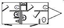 4 Stall Executive Restroom Trailer diagram