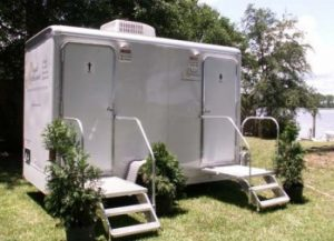 Standard 2 Stall Portable Bathroom For Wedding