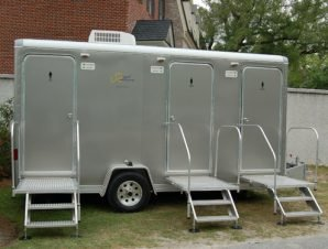 Outside Portable Restroom